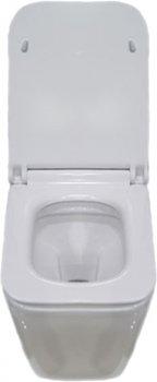 Унитаз подвесной NEWARC Aqua 9423W с сиденьем Soft Close дюропласт белый матовый