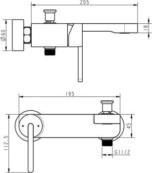Змішувач для ванни DEVIT Laguna 84125110B