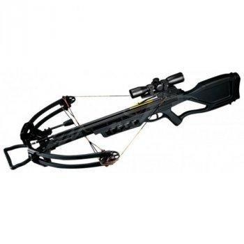 Арбалет Man Kung MK-380BK-KIT, Блочный, винтовочного типа, пластиковый приклад ц:черный