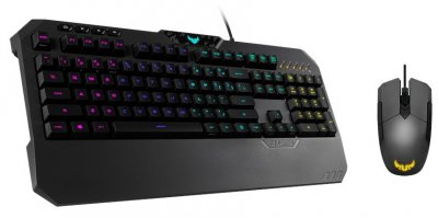 Комплект (клавіатура + мишь) Asus TUF Gaming Combo Black USB підсвічування (90MP01A0-B0MA00)
