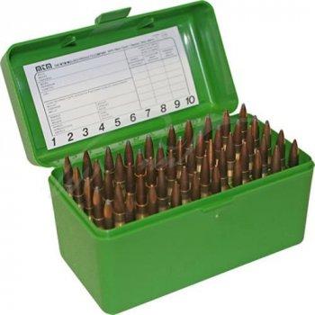 Коробка MTM RM-50 на 50 патронов кал. 243 Win и 308 Win. Цвет – зеленый (1773.04.74)