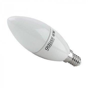 Лампа светодиодная 7Вт C37 E14 4100K Gauss LED Elementary (3 лампы в упаковке)