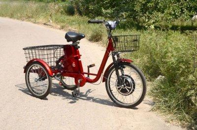 Електровелосипед SkyBike 3-CYCL (350W-36V) червоний