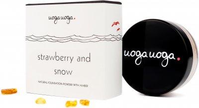 Натуральная пудра Uoga Uoga Strawberry And Snow №636 SPF 15 с янтарем 8 г (47718777)
