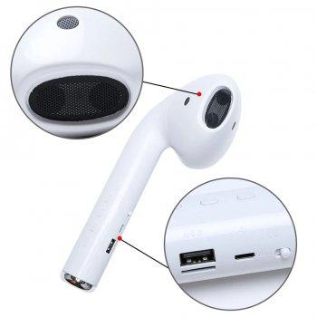 Гігантська гарнітура UKC бездротова акустична портативна колонка Giant Headphone Speaker Super Bass FM USB Bluetooth 22,2 см Біла