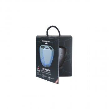 Акустика Xoopar - Geo Speaker (Срібляста З Синім Led-Підсвічуванням,Bluetooth,Моно)