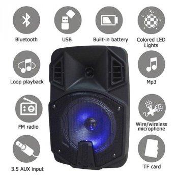 Портативна бездротова акустична система AILIANG LIGE Q8BK Bluetooth колонка валізу з мікрофоном Black (LIGE-Q8BK)