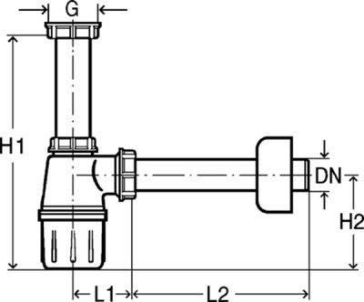 """Сифон для раковины VIEGA DN1 1/2""""x40 мм (119270)"""