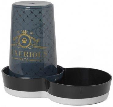 Автоматична годівниця-поїлка для собак Moderna Tasty Jumbo Luxurious Pets 21х36х29 см 3.79 л Чорний (5412087013128)