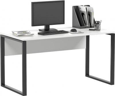 Комп'ютерний стіл WUDUS Метр 138х68х75 см Білий з чорними опорами (С-61)