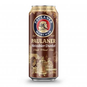 Упаковка пива Paulaner Dunkel Hefe-Weissbier темное нефильтрованное 5.3% 0.5 л x 24 шт (4066600497615)