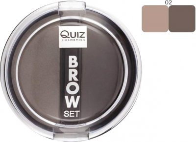 Тіні для брів Quiz Brow set 02 8 г (5906439048611)