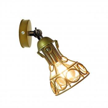 Світильник настінний Electropark, спот поворотний, стельова лампа, на одну лампу, золотистий колір (LS-000075)