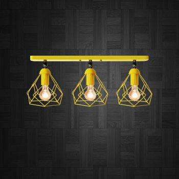Світильник настінний Electropark, бра поворотне, стельова лампа RUBY/LS-3 жовтий (LS-0000478)