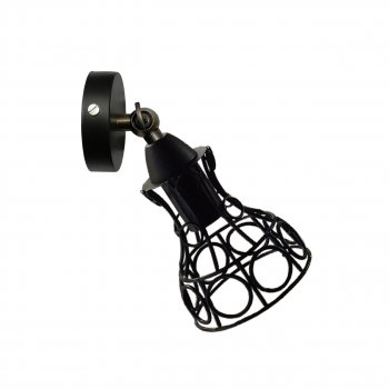 """Світильник настінний Electropark, спот поворотний, стельова лампа, на одну лампу, чорний колір RINGS/LS"""" (LS-000076)"""