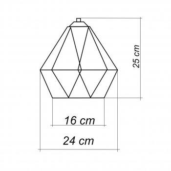 """Світильник настінний Electropark / бра лофт / стельова лампа / на одну лампу / індустріальний стиль / """"CLASSI/LS чорний (LS-0000389)"""