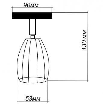 """Світильник настінний Electropark, спот поворотний, стельова лампа, на одну лампу, білий колір """"CUP-W"""" (LS-000084)"""