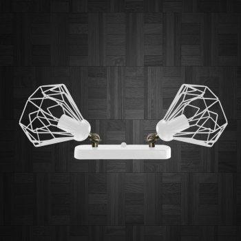 Світильник настінний Electropark, бра поворотне, стельова лампа SKRAB/LS-2 білий (LS-0000469)