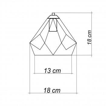 Світильник настінний Electropark, бра лофт, стельова лампа, на одну лампу, індустріальний стиль, SKRAB/LS-W білий (LS-0000391)