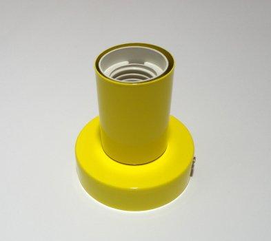 Світильник настінний Electropark, стельова лампа, мінімалізм, стандартний цоколь, жовтий колір (LS-000112)