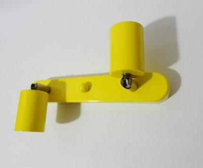 Світильник настінний Electropark, спот поворотний, стельовий світильник, на дві лампи, Е27 жовтий колір (LS-00012232)
