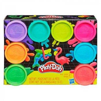 Набор для лепки Play-Doh Неон 8 цветов (E5044/Е5063) (10-543009)