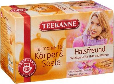 Чай травяной пакетированный Teekanne Гармония Теплое горло 20 пакетиков (4009300014157)