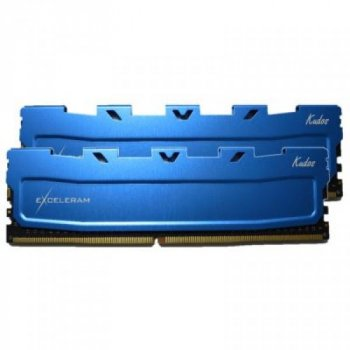 Модуль пам'яті для комп'ютера DDR4 16GB (2x8GB) 2133 MHz Blue Kudos eXceleram (EKBLUE4162114AD)