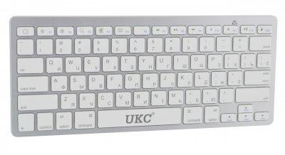 Бездротова Bluetooth клавіатура UKC BK3001 (X5) Silver