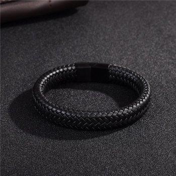 Мужской кожаный браслет Primo Rock Lux 20.5 Black Primo черный