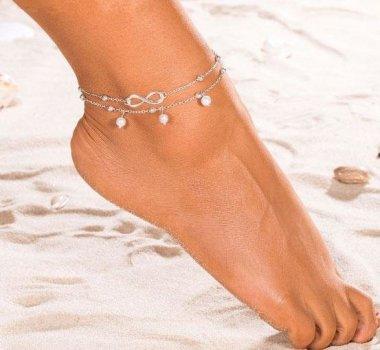 Браслет Primo Infinity Silver на ногу (анклет) Primo серебряный