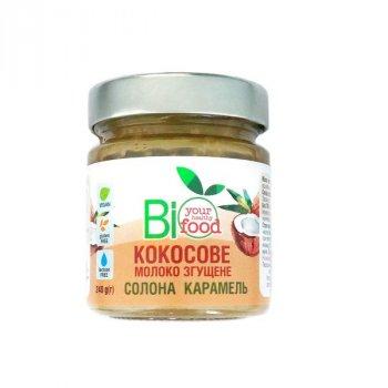 Кокосовое молоко сгущенное Bio Food соленая карамель 240 г