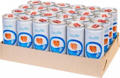Упаковка воды кислородной негазированной Oxylife 0.25 л х 24 банки (2202001415025_8594174360081)