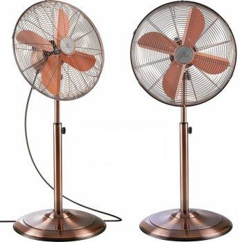 Напольный металлический вентилятор Kesser KE-40D 50см Медный