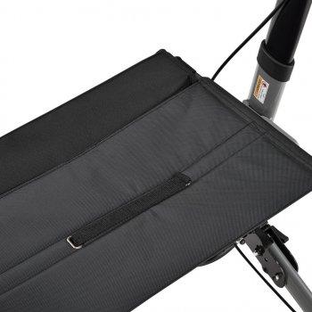 Ролатор Juskys Черный, ходунки на колесах с сидением и сумкой