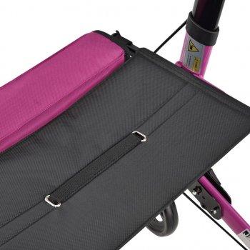 Ролатор Juskys Фиолетовый, ходунки на колесах с сидением и сумкой