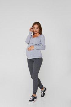 Спортивні штани для вагітних (демі) Lullababe Base графіт