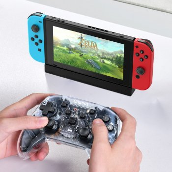 Безпровідний геймпад Baseus Motion Sensing Vibrating SW Gamepad Прозорий