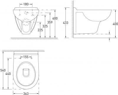 Унітаз підвісний VOLLE Maro New 13-52-222 із сидінням поліпропілен