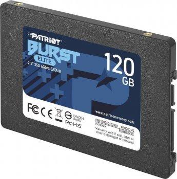 "Накопичувач SSD Patriot Burst Elite 120GB 2.5"" 7mm SATAIII TLC 3D 120GB 2.5"" SATAIII TLC (PBE120GS25SSDR)"