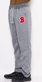 Спортивные штаны прямые с нашивкой ISSA PLUS GN-333  Серый ( GN-333 )