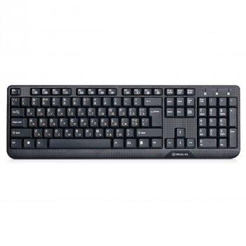 Дротова клавіатура Real-El Standard 500 USB black Б/У