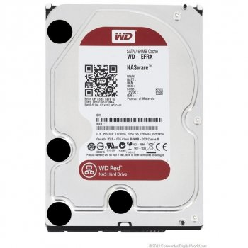 Жорсткий диск 3.5' 1Tb Western Digital Red SATA3 64Mb 5400 rpm WD10EFRX