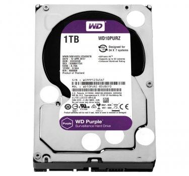 Жорсткий диск 3.5' 1Tb Western Digital Purple SATA3 64Mb 5400 rpm WD10PURZ (148697)