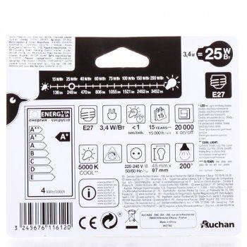 Світлодіодна Лампочка Auchan (E27; 25 Вт; 250l)