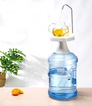 Електрична помпа EASYPUMP для бутильованої води (бутель 19 л) Comfy Stand Білий