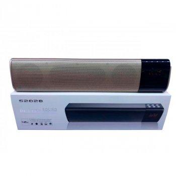 Колонка акустична портативна TTech S2028, Bluetooth, потужність 10 Вт, USB вихід, підтримка micro SD, gold, PC10056
