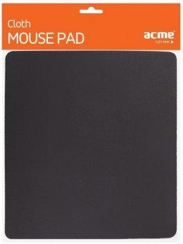 Компьютерный игровой коврик для мышки Acme Cloth Mouse Pad 22.5 смх25.2см Черный (95068del)