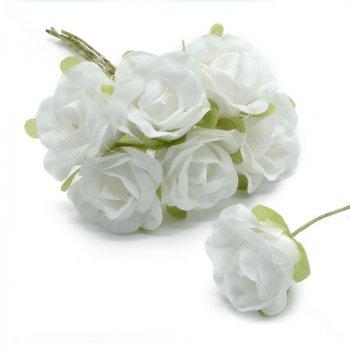 Роза тканинна, 20 мм, Біла, 1 шт (DIF-015023) Polimex