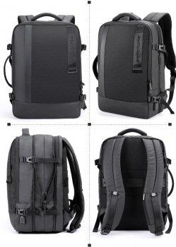 Дорожній рюкзак валізу Arctic Hunter B00351, з двома відділеннями, RFID захистом і розширювачем, 32л